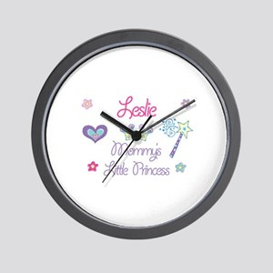 Leslie - Mommy's Little Princ Wall Clock