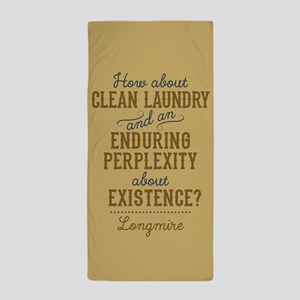 Longmire Clean Laundry Beach Towel