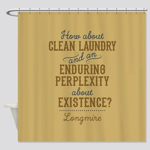 Longmire Clean Laundry Shower Curtain