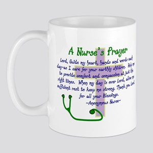 A NURSES PRAYER LAVENDER NAVY Mugs