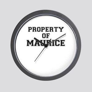 Property of MAURICE Wall Clock