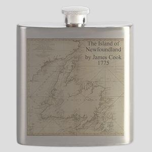 Map of Newfoundland Flask