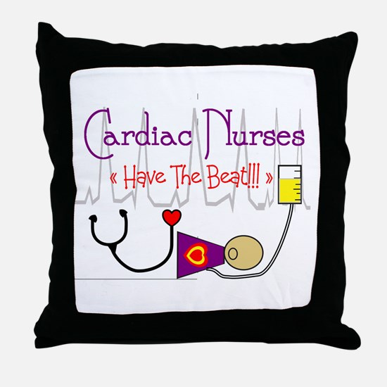 Funny Cardiac nurse Throw Pillow