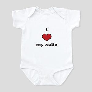 I love my zadie Infant Bodysuit