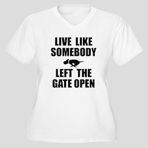 Live like somebod Women's Plus Size V-Neck T-Shirt