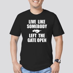 Live like somebody lef Men's Fitted T-Shirt (dark)