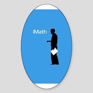 iMath Oval Sticker