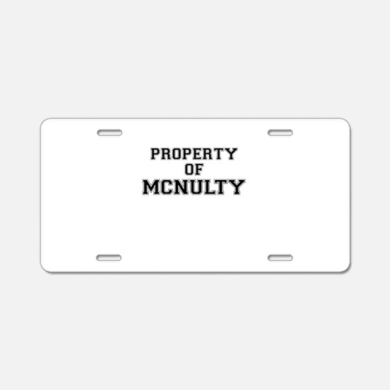 Property of MCNULTY Aluminum License Plate