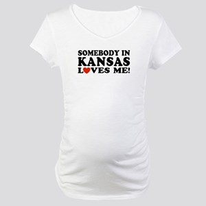 Somebody in Kansas Loves Me Maternity T-Shirt