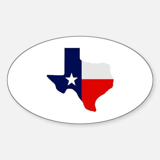 Cute Texas republic Sticker (Oval)