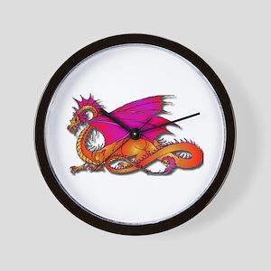 Gradient Dragon Wall Clock