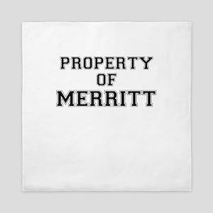 Property of MERRITT Queen Duvet