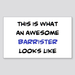 awesome barrister Sticker (Rectangle)