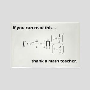 Thank A Math Teacher Rectangle Magnet