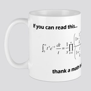 Thank A Math Teacher Mug