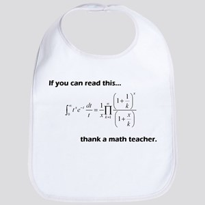 Thank A Math Teacher Bib
