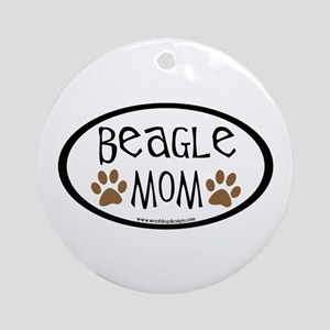 Beagle Mom Oval Ornament (Round)