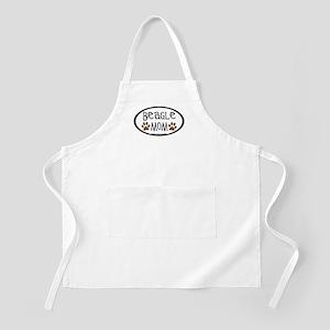 Beagle Mom Oval BBQ Apron