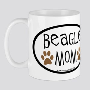 Beagle Mom Oval Mug
