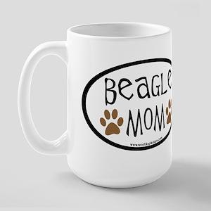 Beagle Mom Oval Large Mug