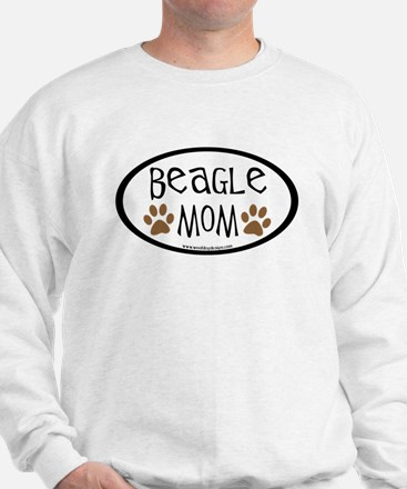 Beagle Mom Oval Sweatshirt