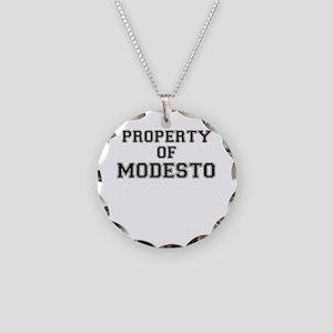Property of MODESTO Necklace Circle Charm
