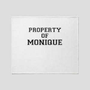 Property of MONIQUE Throw Blanket
