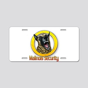 Belgian Malinois Security Aluminum License Plate