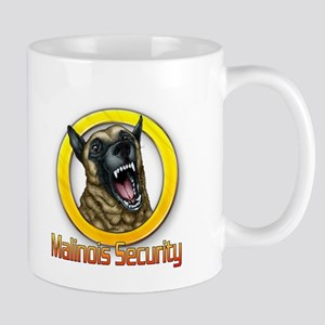 Belgian Malinois Security Mugs
