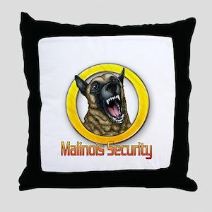 Belgian Malinois Security Throw Pillow