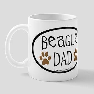 Beagle Dad Oval Mug