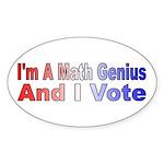 I'm a math genius Oval Sticker