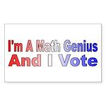 I'm a math genius Rectangle Sticker