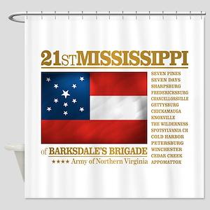 21st Mississippi Infantry Shower Curtain