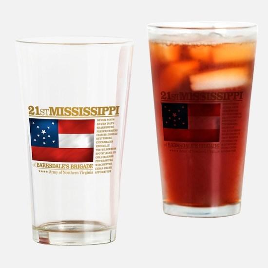 21st Mississippi Infantry Drinking Glass