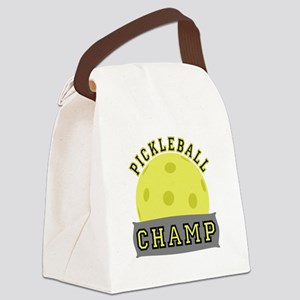 Pickleball Champ Canvas Lunch Bag
