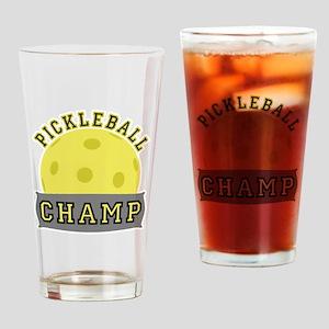 Pickleball Champ Drinking Glass