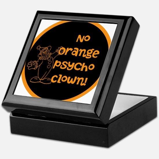 Anti Trump, no orange psycho clown! Keepsake Box