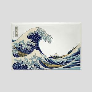 The Great Wave off Kanagawa Rectangle Magnet