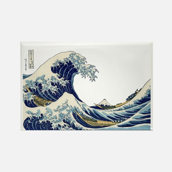 The Great Wave off Kanagawa Rectangle Magnet
