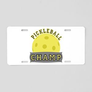 Pickleball Champ Aluminum License Plate