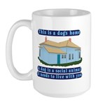 Dog's Home Large Mug