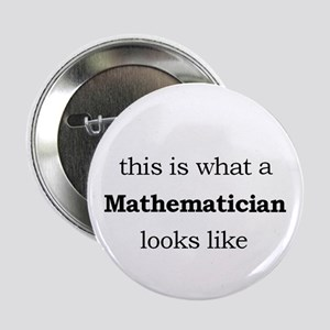 "What a Mathematician Looks LIke 2.25"" Button"