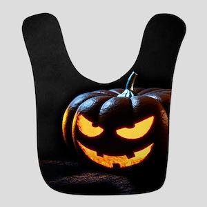 Halloween Pumpkin Jack-O-Lanter Polyester Baby Bib