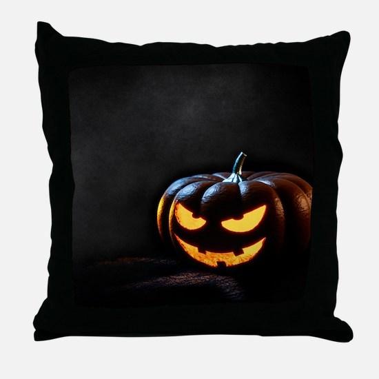 Halloween Pumpkin Jack-O-Lantern Spoo Throw Pillow