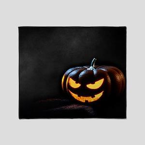 Halloween Pumpkin Jack-O-Lantern Spo Throw Blanket