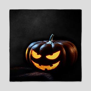 Halloween Pumpkin Jack-O-Lantern Spook Queen Duvet