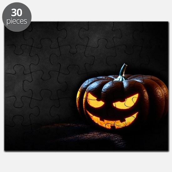 Halloween Pumpkin Jack-O-Lantern Spooky Puzzle