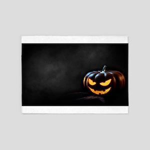 Halloween Pumpkin Jack-O-Lantern Sp 5'x7'Area Rug