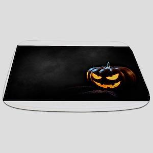 Halloween Pumpkin Jack-O-Lantern Spooky Bathmat